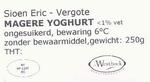 Magere yoghurt Sioen