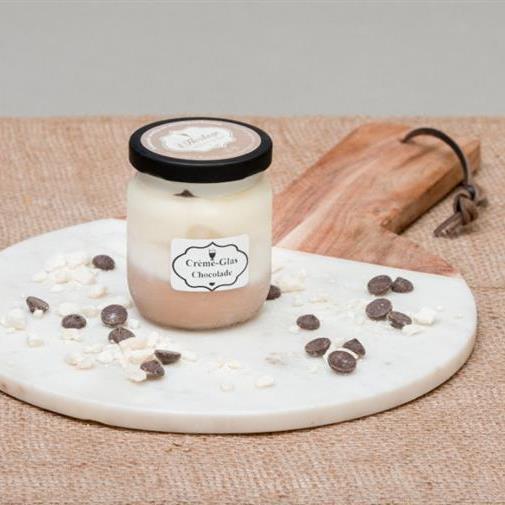 Crème-Glas chocolade-meringue