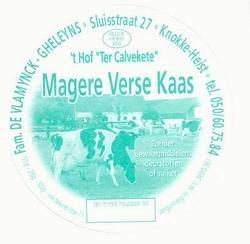Magere verse kaas 't Hof Ter Calvekete