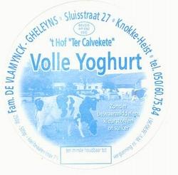 Yoghurt 't Hof Ter Calvekete